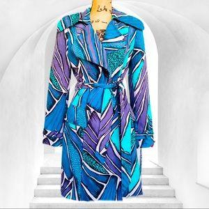 Alberto MAKALI psychedelic trench coat